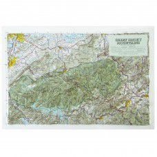 Great Smoky Mountains Raised Relief Map