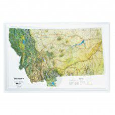 Montana Raised Relief Map