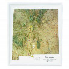 New Mexico Raised Relief Map