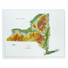 New York Raised Relief Map (Raven colors)