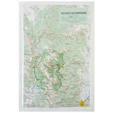 Rocky Mountain National Park Raised Relief Map