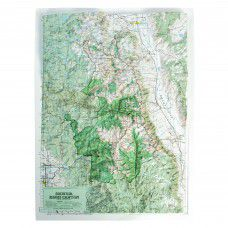 Sequoia - Kings Canyon Raised Relief Map