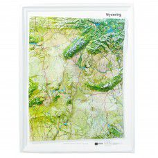 Wyoming Raised Relief Map