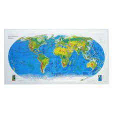 World Raised Relief Map - Rand Geophysical Style