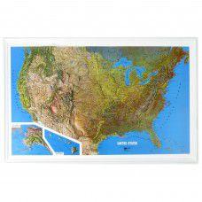USA Raised Relief Map - Medium by Kistler