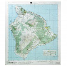 Big Island of Hawaii (Hilo) Raised Relief Map by Hubbard