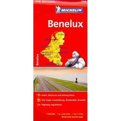 Benelux Map by Michelin