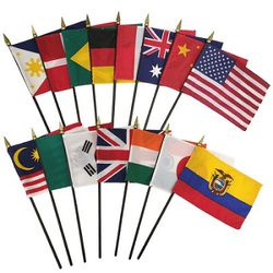 Mini Flags M - Z - Choose from the List