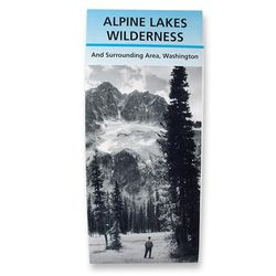 Alpine Lakes Wilderness Map by ALPS