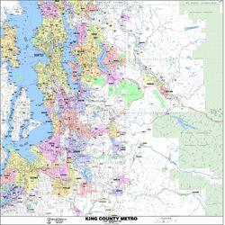 King County Map Arterial Map by Kroll Map Company