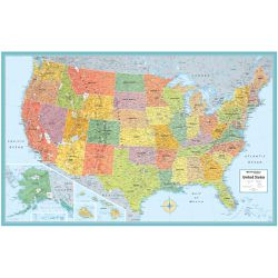 United States Wall Map by Rand McNally, Blue