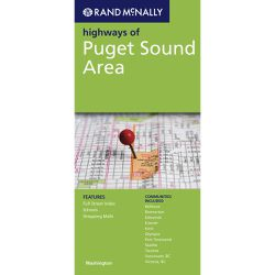 Puget Sound Folded Paper Map by Rand McNally