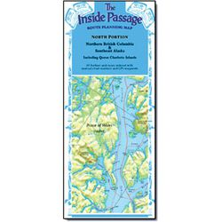 Inside Passage Wall Map - North half