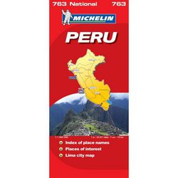 Peru Road Map by Michelin