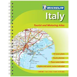 Italy Road Atlas Spiralbound by Michelin