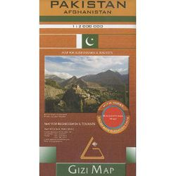 Pakistan & Afghanistan Travel Map by Gizi