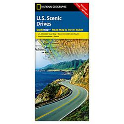 U.S. Scenic Drives Road Map by National Geographic