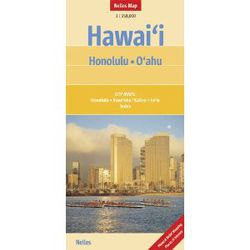 Honolulu & Oahu Travel Map by Nelles