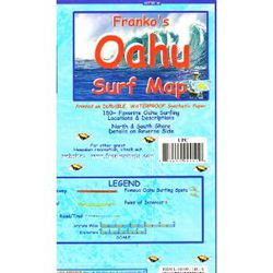 Oahu Surf Map by Franko