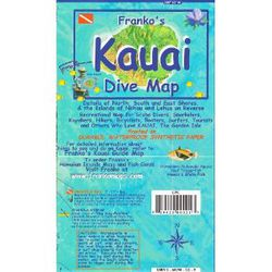 Kauai Dive Map by Franko