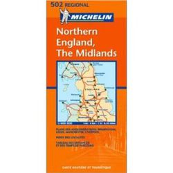 England, Northern & Midlands Travel Map by Michelin