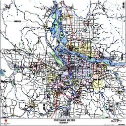 Metro Map Portland Oregon.Wall Map Of Portland Or Portland Oregon Wall Map
