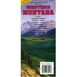 Western Montana Road Map - Montana Road Maps