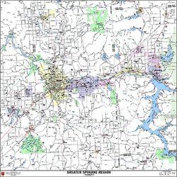 Spokane Metro Arterial Map