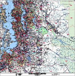 King County Zip Code Map by Kroll Map Co.