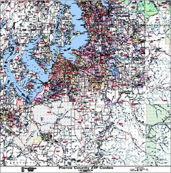 Pierce County Zip Code Map by Kroll Map Company