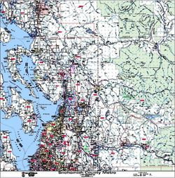 Snohomish County Zip Code Map by Kroll Map Company