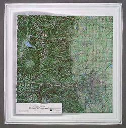 Denver's Playground Raised Relief Map