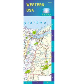 Western United States Laminated Road Map