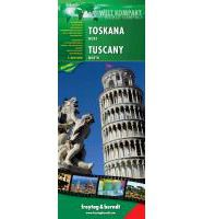 Tuscany, North Travel Map by Freytag & Berndt