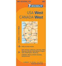 Western U.S. Road Map by Michelin
