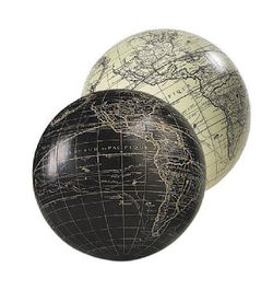 Antique Miniature Globe - Black or Ivory