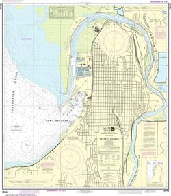 NOAA Chart 18444 - Everett Harbor