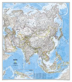Asia Wall Map by National Geographic