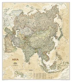 Asia Wall Map - Executive Series by National Geographic