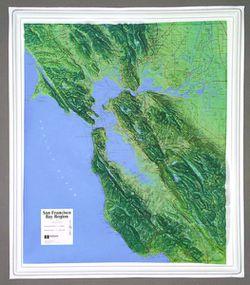 San Francisco Bay Raised Relief Map