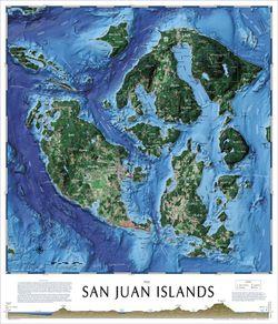 San Juan Islands Satellite Image by Tahoe Maps