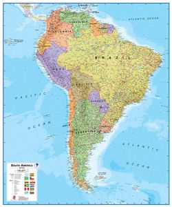 South America Political Map - Political South America Map