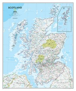 Scotland Map by National Geographic