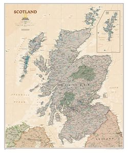 Scotland Executive Map by National Geographic