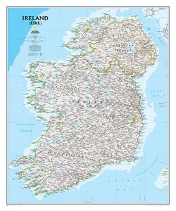 Ireland Wall Map by National Geographic