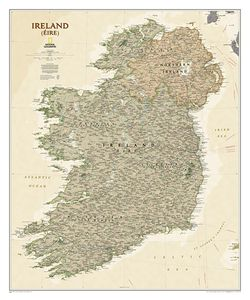Ireland Wall Map, Executive by National Geographic