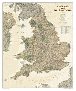 England & Wales - Executive Series Map by National Geographic