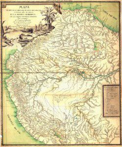 Antique Map of South America 1796
