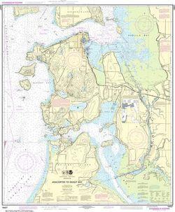 NOAA Chart 18427 - Anacortes to Skagit Bay