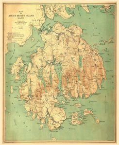 Antique Map of Mt. Desert Isle, Acadia NP 1893